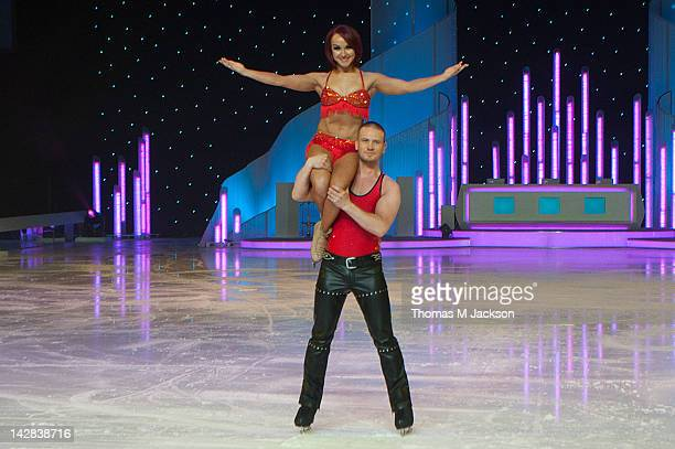 Matthew Wolfenden and Nina Ulanova meet the press ahead of Dancing On Ice The Live Tour at Metro Radio Arena on April 13 2012 in Newcastle upon Tyne...