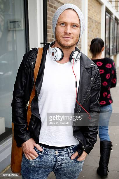 Matthew Wolfenden sighted arriving at the Riverside studios to film Celebrity Juice on April 2 2014 in London England