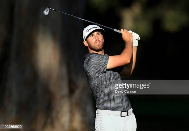 Matthew Wolff of the United States plays a shot during the proam for the Genesis Invitational at the Riviera Country Club on February 12 2020 in...