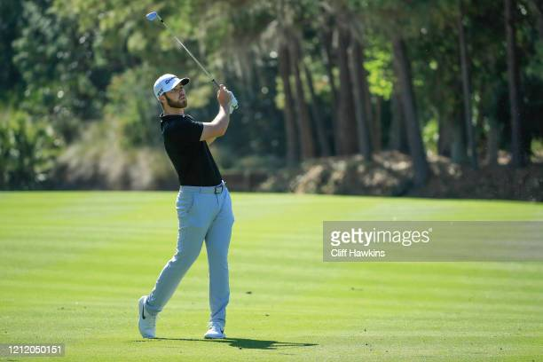 Matthew Wolff of the United States plays a shot from the 10th fairway during the first round of The PLAYERS Championship on The Stadium Course at TPC...