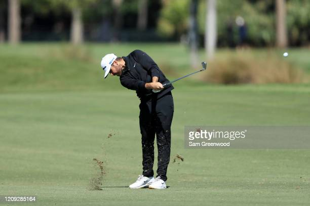 Matthew Wolff of the United States plays a shot on the third hole during the second round of the Honda Classic at PGA National Resort and Spa...