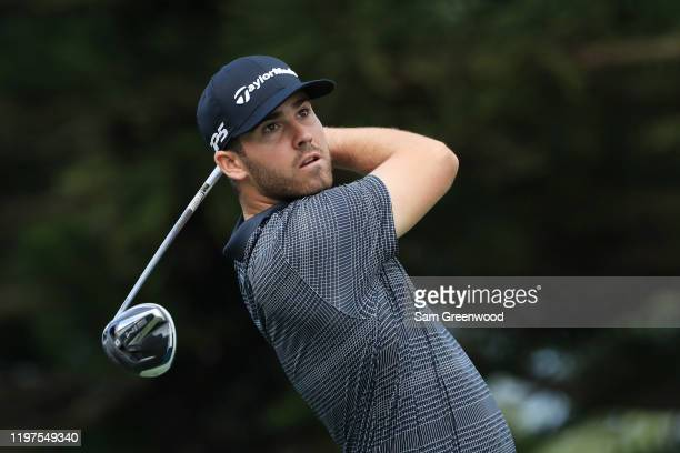 Matthew Wolff of the United States plays his shot from the 15th tee during the third round of the Sentry Tournament Of Champions at the Kapalua...