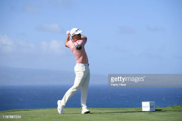 Matthew Wolff of the United States plays his shot from the tenth tee during the final round of the Sentry Tournament Of Champions at the Kapalua...