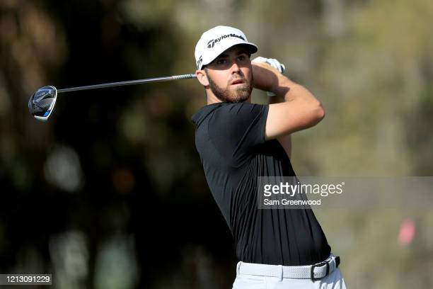 Matthew Wolff plays a shot during the first round of The PLAYERS at the TPC Stadium course on March 12 2020 in Ponte Vedra Beach Florida