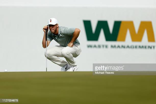 Matthew Wolff reads 16th green during the third round of the Waste Management Phoenix Open at TPC Scottsdale on February 02 2019 in Scottsdale Arizona