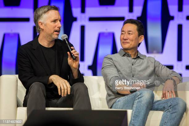 Matthew Wood and Doug Chiang during the Star Wars Celebration at McCormick Place Convention Center on April 15 2019 in Chicago Illinois