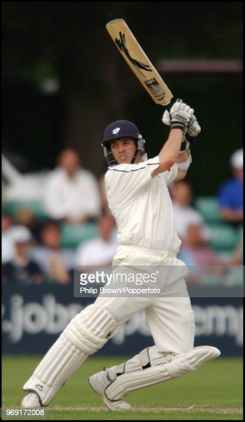 Matthew Wood of Yorkshire hits out only to be caught for 29 runs in the CG Trophy match betwenn Worcestershire and Yorkshire at New Road Worcester...