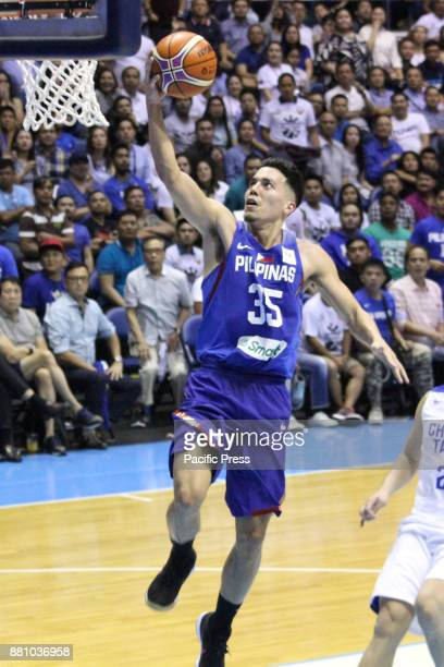 Matthew Wright of the Philippines converts an uncontested layup against Chinese Taipei during their FIBA World Cup Qualifying Match Gilas Pilipinas...
