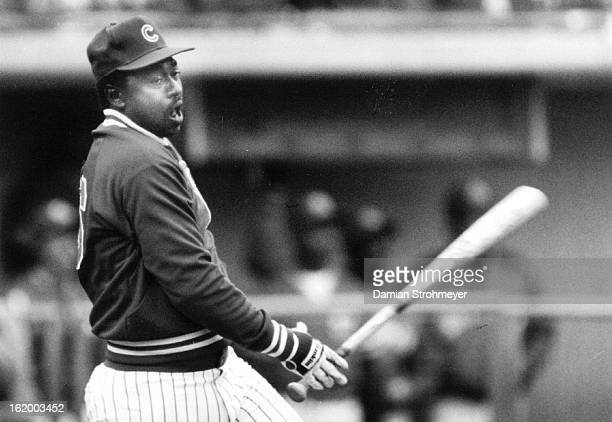 APR 6 1985 APR 7 1985 Matthews Gary Baseball Gary Matthews lets out a sign of relief after his final homer won the home run contest for the cubs