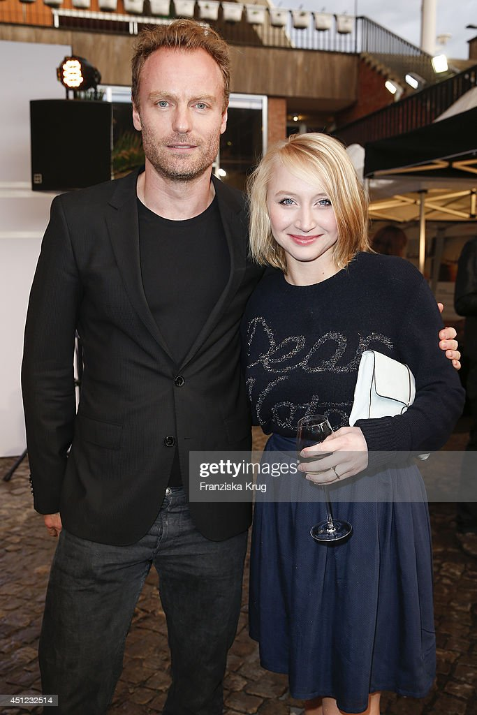 Matthias Adler and Anna Maria Muehe attend the producer party 2014 (Produzentenfest) of the Alliance German Producer - Cinema And Television on June 25, 2014 in Berlin, Germany.