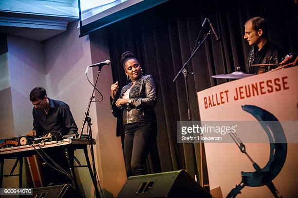 Matthias Arfman Onejiru and Peter Imig of Matthias Arfmann presents Ballet Jeunesse perform live on stage during Yellow Lounge organized by recording...