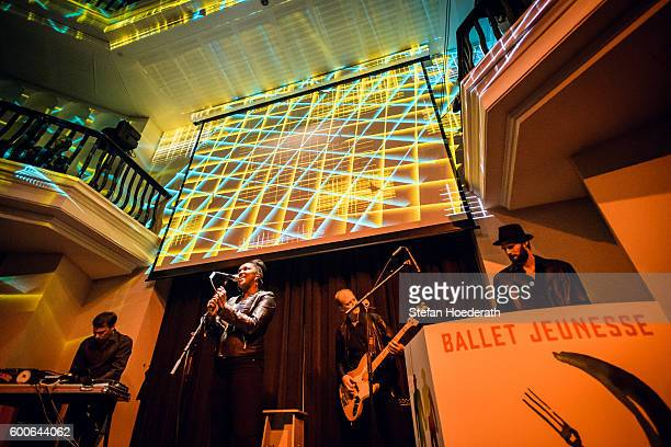 Matthias Arfman Onejiru Peter Imig and Sebastian Maier of Matthias Arfmann presents Ballet Jeunesse perform live on stage during Yellow Lounge...