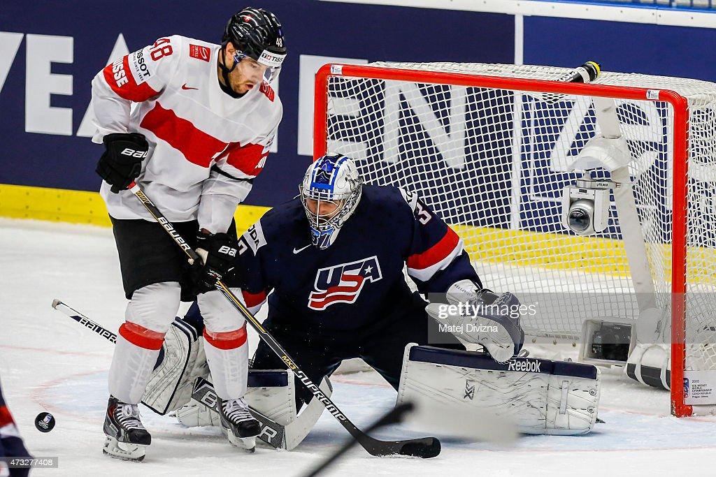 USA v Switzerland - 2015 IIHF Ice Hockey World Championship Quarter Final : News Photo