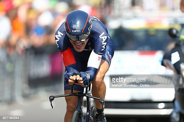Matthias Brandle of Austria riding for IAM Cycling during the 2015 Tour of France, Stage 1, Individual Time Trial, Utrech - Utrech , on July 4, 2015....