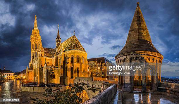 matthias church, budapest - royal palace budapest stock pictures, royalty-free photos & images