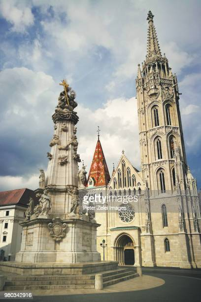 matthias church in budapest, hungary - royal palace budapest stock pictures, royalty-free photos & images