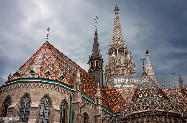 matthias church - royal palace budapest stock pictures, royalty-free photos & images