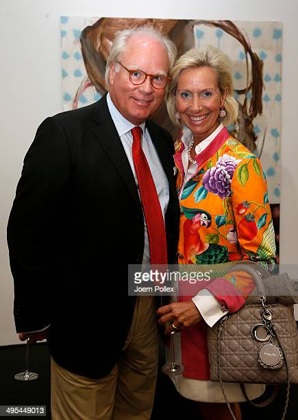 Matthias count to CastellRuedenhausen and his wife countess Christiane pose during the 'Dawid Tomaszewki PopUp Store Opening' on June 3 2014 in...