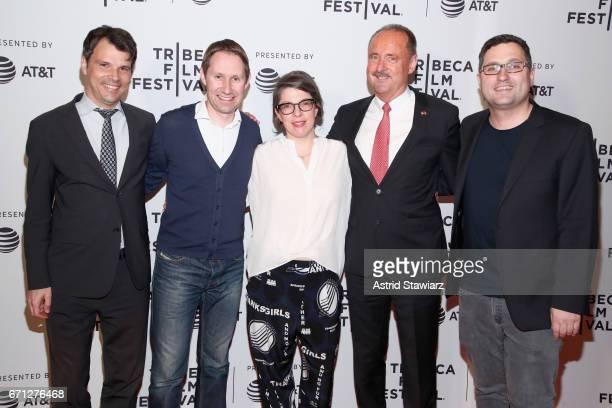 Matthias Dettling Lukas Hobi Petra Volpe André Schaller and Reto Schaerli attend 'The Divine Order' Premiere during 2017 Tribeca Film Festival at...