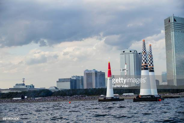 Matthias Dolderer of Germany performs during the qualifying day at the third stage of the Red Bull Air Race World Championship on June 3 2017 in...
