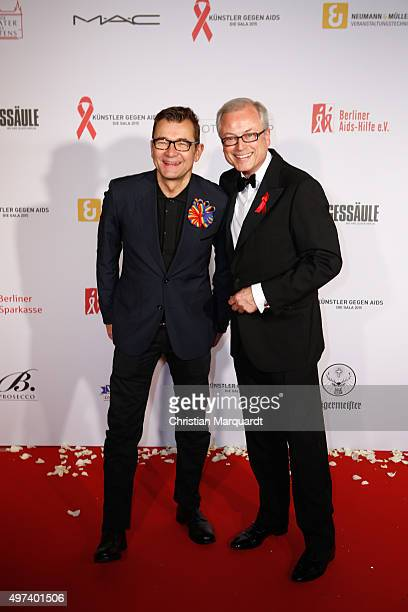 Matthias Freihof and HansJuergen Schatz attend the Artists Against Aids Gala 2015 at Stage Theater des Westens on November 16 2015 in Berlin Germany