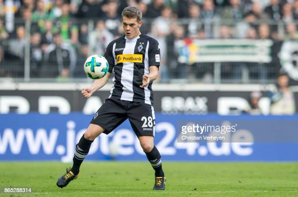 Matthias Ginter of Borussia Moenchengladbach controls the ball during the Bundesliga match between Borussia Moenchengladbach and Bayer 04 Leverkusen...
