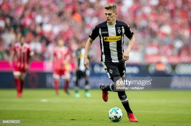 Matthias Ginter of Borussia Moenchengladbach controls the ball during the Bundesliga match between FC Bayern Muenchen and Borussia Moenchengladbach...