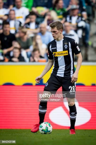 Matthias Ginter of Borussia Moenchengladbach during the Bundesliga match between Borussia Moenchengladbach and Hertha BSC at BorussiaPark on April 07...