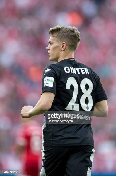 Matthias Ginter of Borussia Moenchengladbach during the Bundesliga match between FC Bayern Muenchen and Borussia Moenchengladbach at Allianz Arena on...