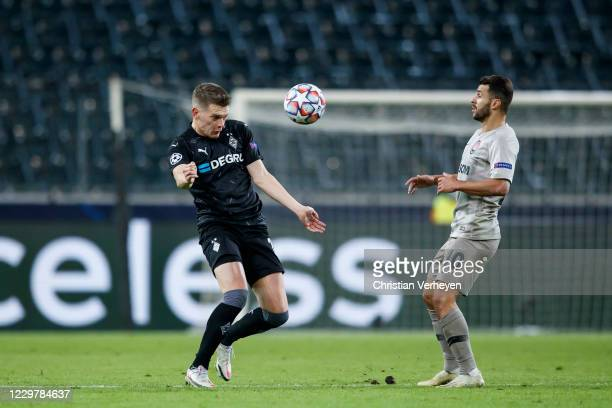 Matthias Ginter of Borussia Moenchengladbach in action during the Group B UEFA Champions League match between Borussia Moenchengladbach and Shakhtar...