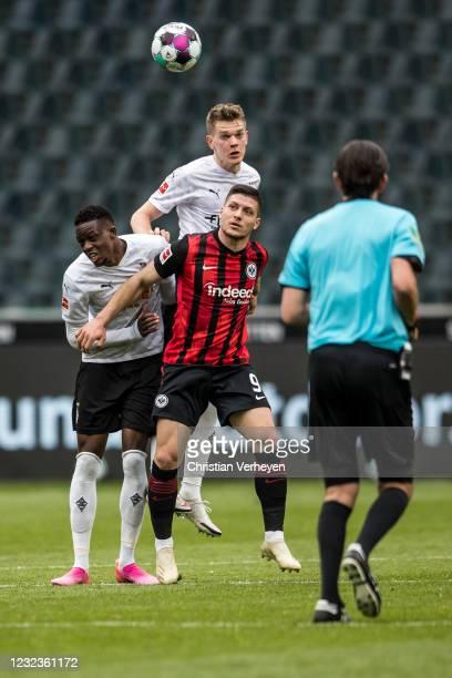 Matthias Ginter of Borussia Moenchengladbach in action during the Bundesliga match between Borussia Moenchengladbach and Eintracht Frankfurt at...