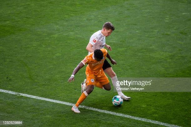 Matthias Ginter of Borussia Moenchengladbach in action during the Bundesliga match between Borussia Moenchengladbach and DSC Arminia Bielefeld at...
