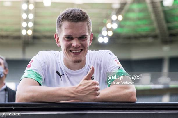 Matthias Ginter of Borussia Moenchengladbach is seen after the Bundesliga match between Borussia Moenchengladbach and 1 FC Union Berlin at...