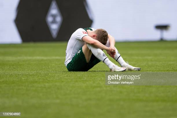 Matthias Ginter of Borussia Moenchengladbach is seen after the Bundesliga match between Borussia Moenchengladbach and VfB Stuttgart at Borussia-Park...
