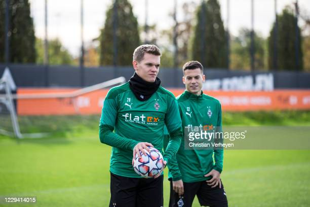 Matthias Ginter of Borussia Moenchengladbach is seen during a Borussia Moenchengladbach Training session ahead the Group B - UEFA Champions League...