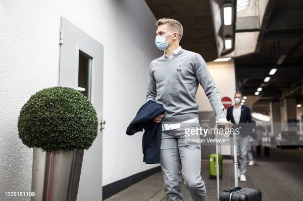 Matthias Ginter of Borussia Moenchengladbach is seen during Borussia Moenchengladbach departs to the Group B UEFA Champions League match between FC...