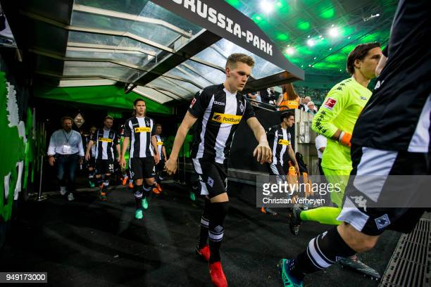 Matthias Ginter of Borussia Moenchengladbach walks on the matchfield after the halftime during the Bundesliga match between Borussia Moenchengladbach...