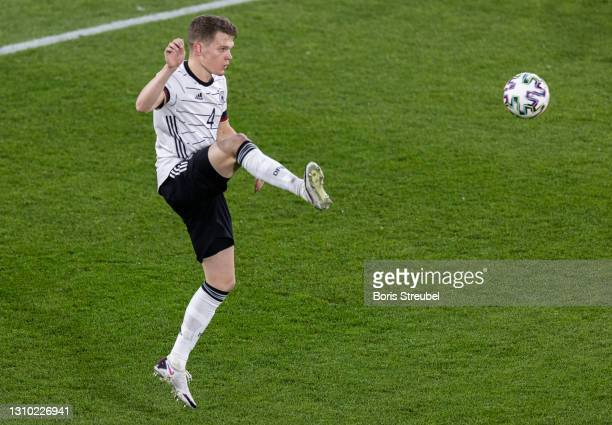 Matthias Ginter of Germany controls the ball during the FIFA World Cup 2022 Qatar qualifying match between Germany and North Macedonia on March 31,...