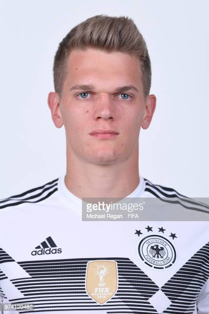 Matthias Ginter of Germany pose for a photo during the official FIFA World Cup 2018 portrait session on June 13 2018 in Moscow Russia