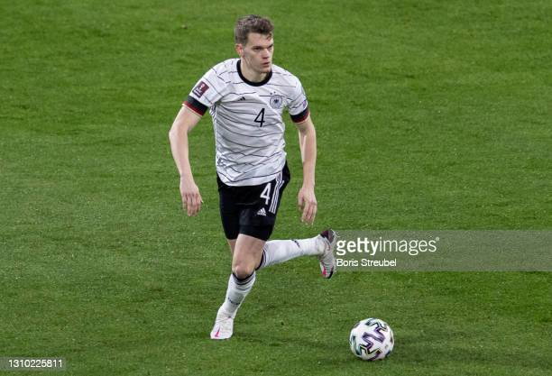 Matthias Ginter of Germany runs with the ball during the FIFA World Cup 2022 Qatar qualifying match between Germany and North Macedonia on March 31,...