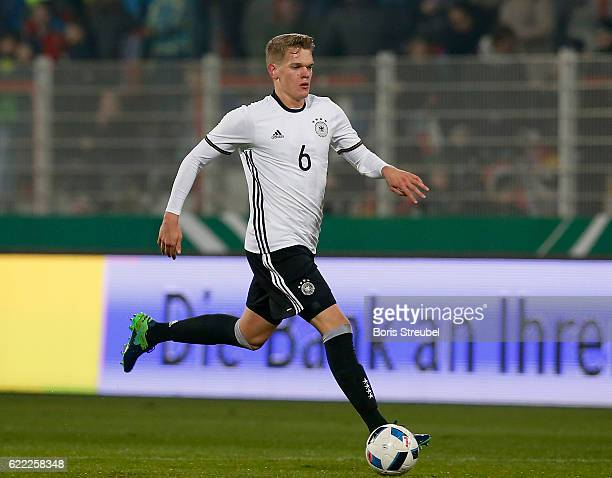Matthias Ginter of Germany runs with the ball during the U21 International Friendly match between U21 Germany and U21 Turkey at Stadion An der Alten...