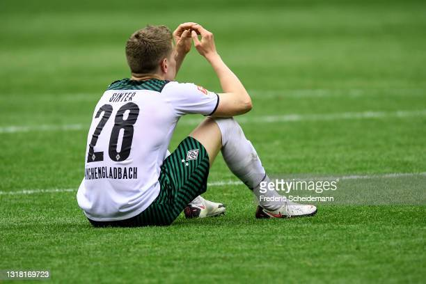 Matthias Ginter of Moenchengladbach after the Bundesliga match between Borussia Moenchengladbach and VfB Stuttgart at Borussia-Park on May 15, 2021...