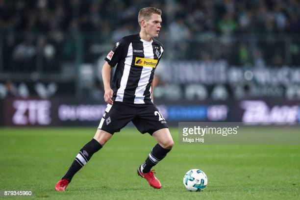 Matthias Ginter of Moenchengladbach controls the ball during the Bundesliga match between Borussia Moenchengladbach and FC Bayern Muenchen at...