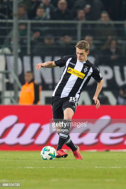 Matthias Ginter of Moenchengladbach controls the ball during the Bundesliga match between Borussia Moenchengladbach and Hamburger SV at BorussiaPark...