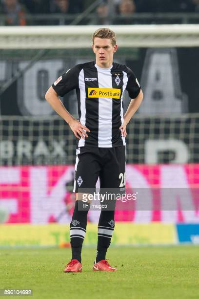 Matthias Ginter of Moenchengladbach looks on during the Bundesliga match between Borussia Moenchengladbach and Hamburger SV at BorussiaPark on...