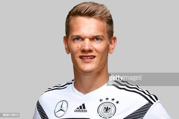 Matthias Ginter poses for a photo during a portrait session ahead of the 2018 FIFA World Cup Russia at Eppan training ground on June 5 2018 in Eppan...
