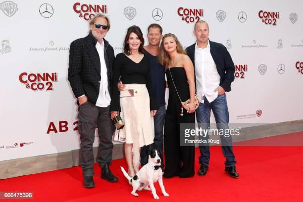 Matthias Habich Iris Berben Til Schweiger Emma Schweiger Heino Ferch and dog Junior attend the 'Conni Co 2 Das Geheimnis des TRex' premiere on April...