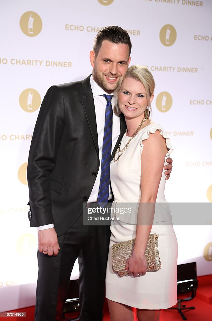 Matthias Killing and Svenja Dierk attend the Echo Award 2015 Charity Dinner at Grill Royal on March 25, 2015 in Berlin, Germany.