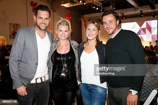 Matthias Killing Svenja Dierk Alina Merkau and guest attend the 'La Boum Fashion Studio' by Soccx in Hoppegarten on September 18 2015 Berlin Germany