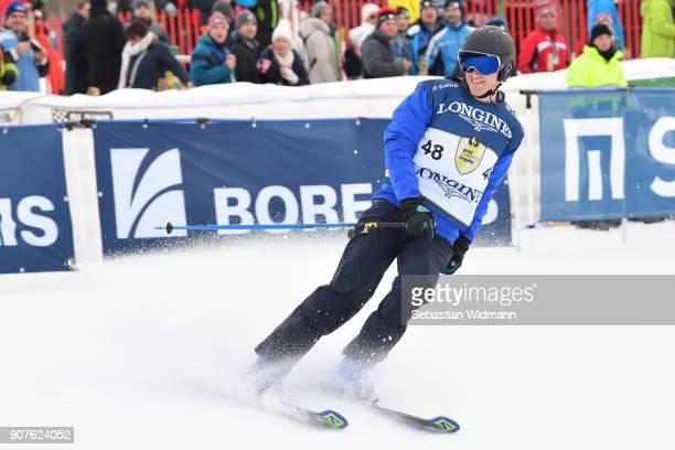 Matthias Lanzinger takes part in the KitzCharityTrophy on January 20, 2018 in Kitzbuehel, Austria.
